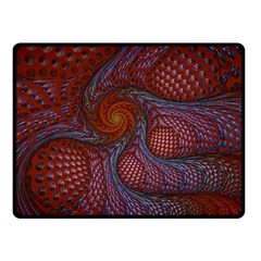 Fractal Red Fractal Art Digital Art Double Sided Fleece Blanket (small)