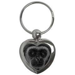 Gibbon Wildlife Indonesia Mammal Key Chains (heart)  by Celenk