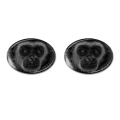 Gibbon Wildlife Indonesia Mammal Cufflinks (oval) by Celenk