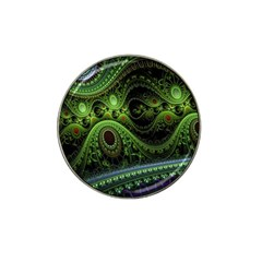 Fractal Green Gears Fantasy Hat Clip Ball Marker by Celenk