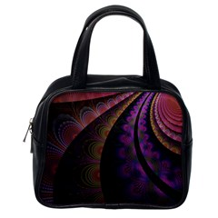 Fractal Colorful Pattern Spiral Classic Handbags (one Side) by Celenk