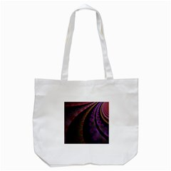 Fractal Colorful Pattern Spiral Tote Bag (white) by Celenk