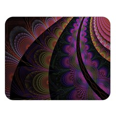 Fractal Colorful Pattern Spiral Double Sided Flano Blanket (large)