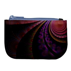 Fractal Colorful Pattern Spiral Large Coin Purse