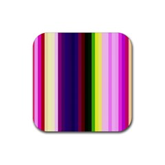 Abstract Background Pattern Textile 2 Rubber Square Coaster (4 Pack)  by Celenk