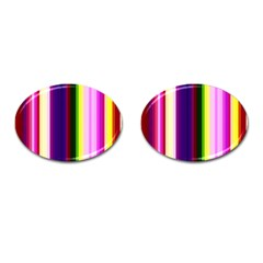 Abstract Background Pattern Textile 2 Cufflinks (oval) by Celenk