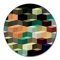 Art Design Color Pattern Creative 3d Round Mousepads by Celenk