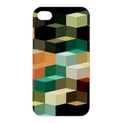Art Design Color Pattern Creative 3d Apple Iphone 4/4s Premium Hardshell Case by Celenk