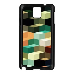 Art Design Color Pattern Creative 3d Samsung Galaxy Note 3 N9005 Case (black)