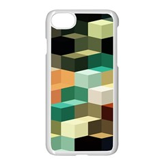 Art Design Color Pattern Creative 3d Apple Iphone 7 Seamless Case (white) by Celenk