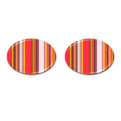 Abstract Background Pattern Textile Cufflinks (oval) by Celenk