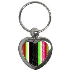 Abstract Background Pattern Textile Key Chains (heart)