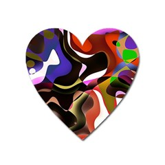 Abstract Background Design Art Heart Magnet