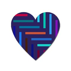 Lines Line Background Abstract Heart Magnet