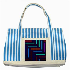 Lines Line Background Abstract Striped Blue Tote Bag by Celenk