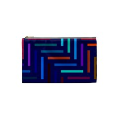 Lines Line Background Abstract Cosmetic Bag (small)