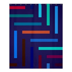 Lines Line Background Abstract Shower Curtain 60  X 72  (medium)  by Celenk