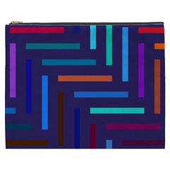 Lines Line Background Abstract Cosmetic Bag (xxxl)