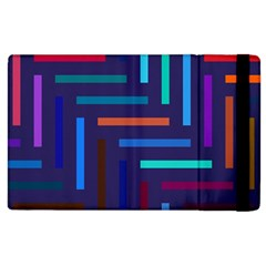 Lines Line Background Abstract Apple Ipad 2 Flip Case by Celenk