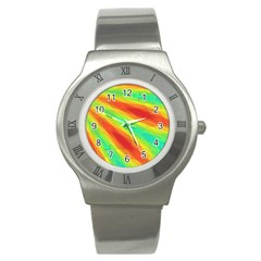 Graphic Kaleidoscope Geometric Stainless Steel Watch by Celenk