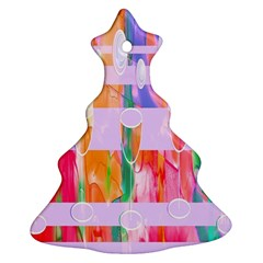 Watercolour Paint Dripping Ink Christmas Tree Ornament (two Sides) by Celenk