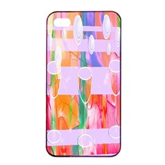 Watercolour Paint Dripping Ink Apple Iphone 4/4s Seamless Case (black) by Celenk