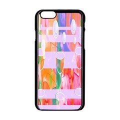 Watercolour Paint Dripping Ink Apple Iphone 6/6s Black Enamel Case by Celenk