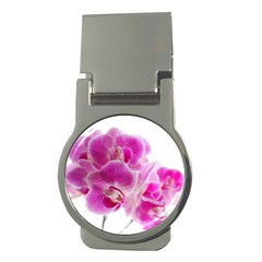 Orchid Phaleonopsis Art Plant Money Clips (round)  by Celenk