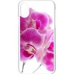 Orchid Phaleonopsis Art Plant Apple Iphone X Seamless Case (white)