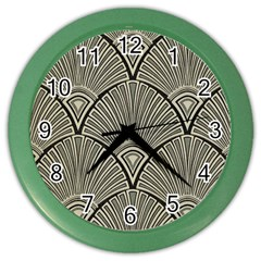 Art Nouveau Color Wall Clocks by 8fugoso