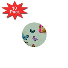 Whimsical Shabby Chic Collage 1  Mini Buttons (10 Pack)  by 8fugoso