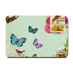 Whimsical Shabby Chic Collage Small Doormat  by 8fugoso
