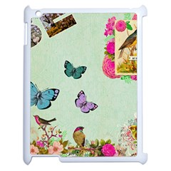 Whimsical Shabby Chic Collage Apple Ipad 2 Case (white) by 8fugoso