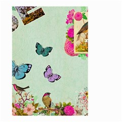 Whimsical Shabby Chic Collage Small Garden Flag (two Sides) by 8fugoso
