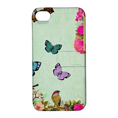 Whimsical Shabby Chic Collage Apple Iphone 4/4s Hardshell Case With Stand by 8fugoso