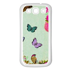 Whimsical Shabby Chic Collage Samsung Galaxy S3 Back Case (white) by 8fugoso