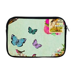 Whimsical Shabby Chic Collage Apple Macbook Pro 17  Zipper Case