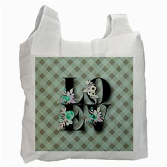 Rustic Love Recycle Bag (one Side) by 8fugoso