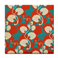 Floral Asian Vintage Pattern Tile Coasters by 8fugoso