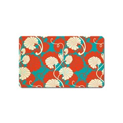 Floral Asian Vintage Pattern Magnet (name Card) by 8fugoso