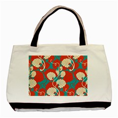 Floral Asian Vintage Pattern Basic Tote Bag by 8fugoso