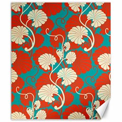 Floral Asian Vintage Pattern Canvas 20  X 24   by 8fugoso
