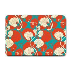 Floral Asian Vintage Pattern Small Doormat  by 8fugoso