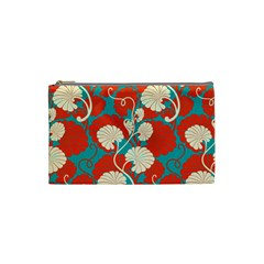 Floral Asian Vintage Pattern Cosmetic Bag (small)  by 8fugoso