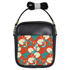 Floral Asian Vintage Pattern Girls Sling Bags by 8fugoso