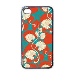 Floral Asian Vintage Pattern Apple Iphone 4 Case (black) by 8fugoso