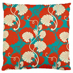 Floral Asian Vintage Pattern Large Cushion Case (one Side) by 8fugoso