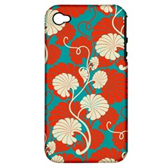 Floral Asian Vintage Pattern Apple Iphone 4/4s Hardshell Case (pc+silicone) by 8fugoso