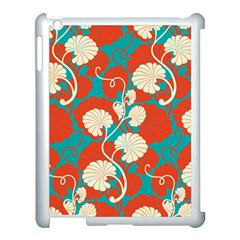 Floral Asian Vintage Pattern Apple Ipad 3/4 Case (white) by 8fugoso