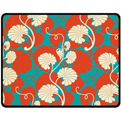 Floral Asian Vintage Pattern Double Sided Fleece Blanket (medium)  by 8fugoso